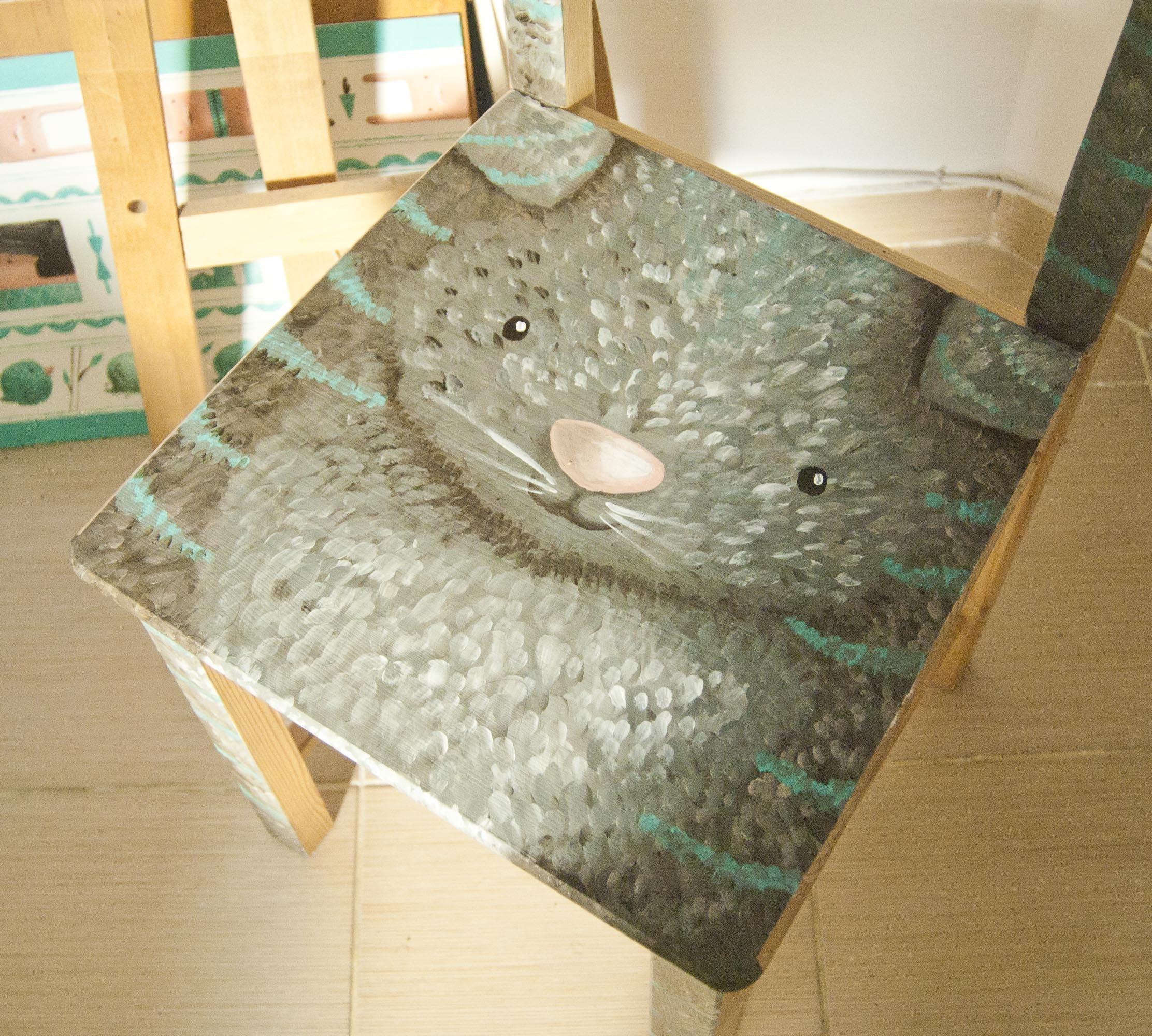 hack your boring ikea chair with a cute cat illustration