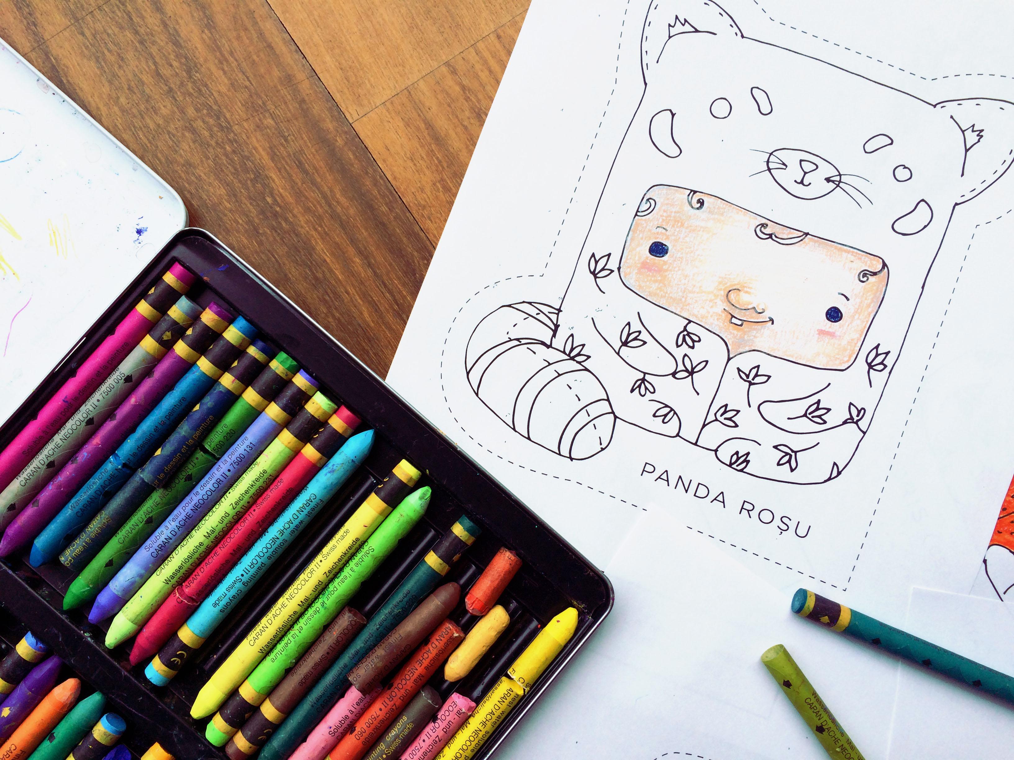 red panda free printable coloring page