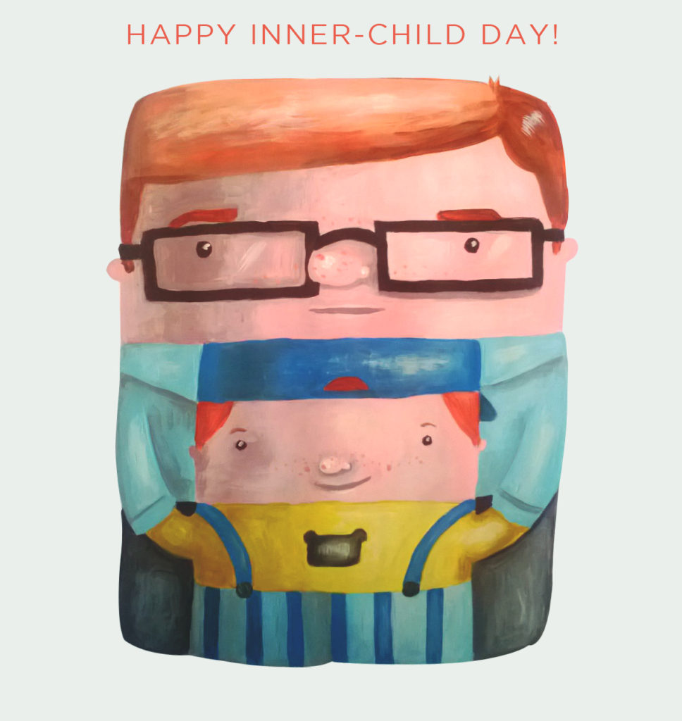 children's day ecard illustration