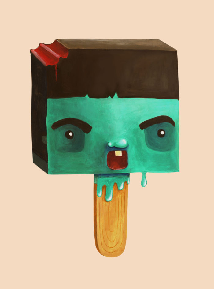 ice cream zombie halloween illustration cuteoshenii scary cute