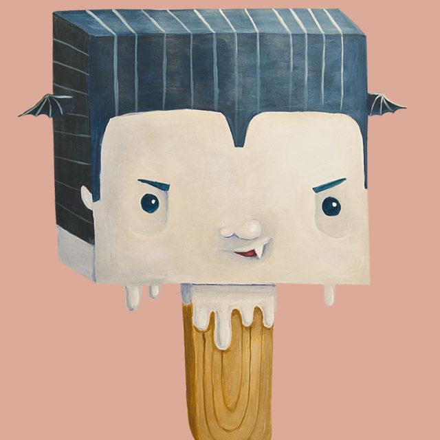 vampire cute halloween treat icecream illustration funny
