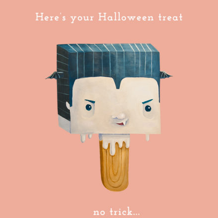 freebie halloween card ecard trick treat funny cute vampire