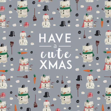 free printable holiday card christmas winter snow cute snowman animals