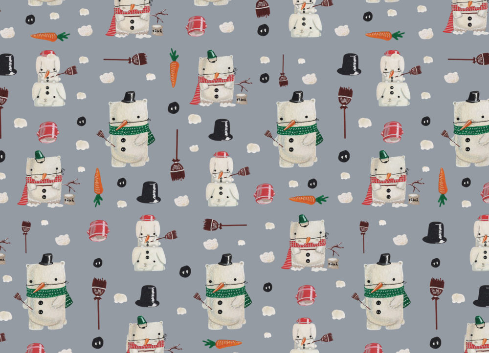 wrapping paper winter christmas surface pattern design giftwrap