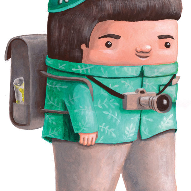 mascot character design commercial illustration tourist travel cuteoshenii andra badea