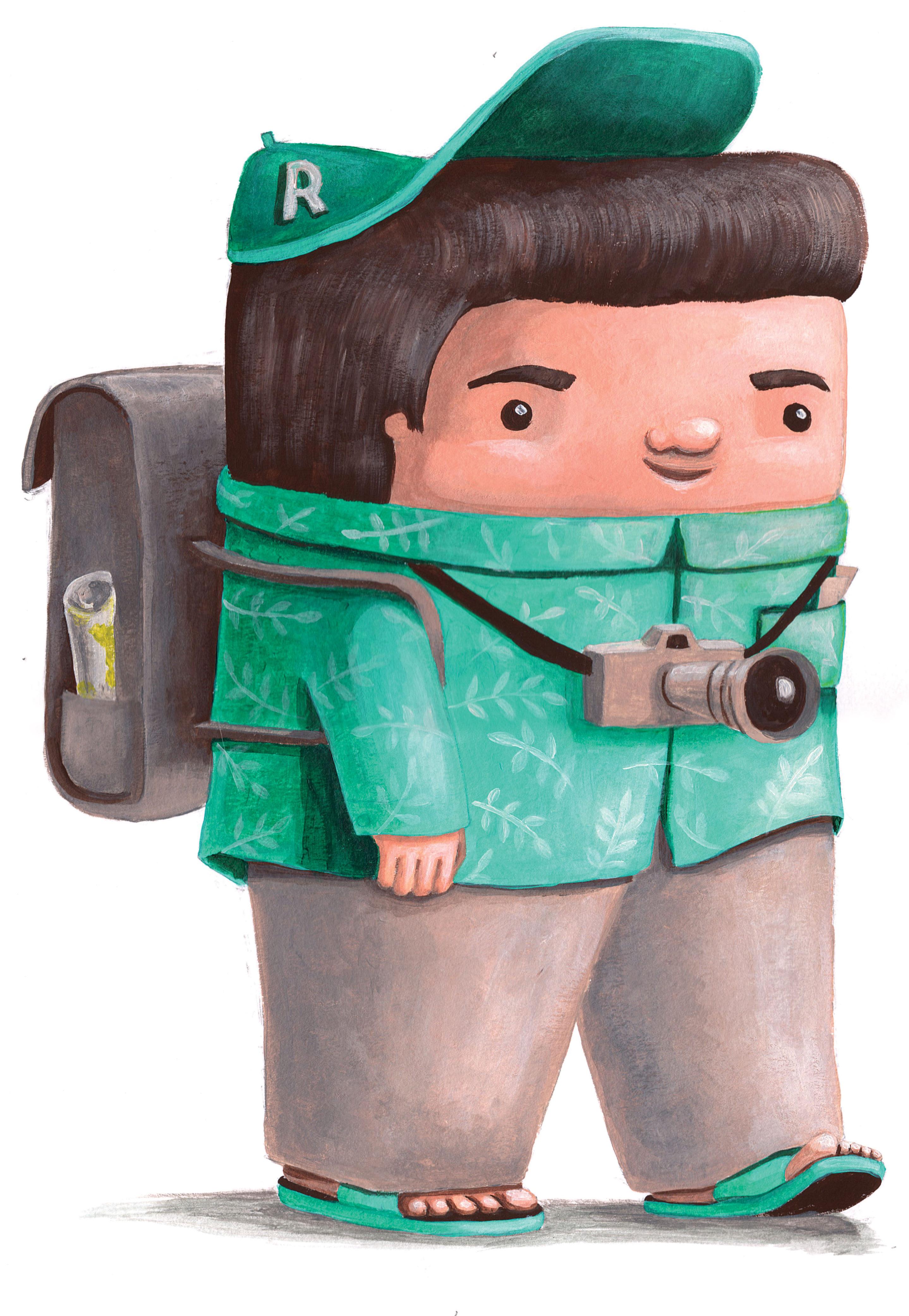 mascot character design commercial illustration tourist travel cuteoshenii andra badea