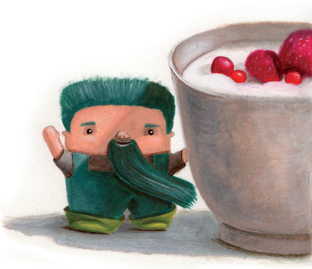 editorial illustration healthy food good bacteria secom