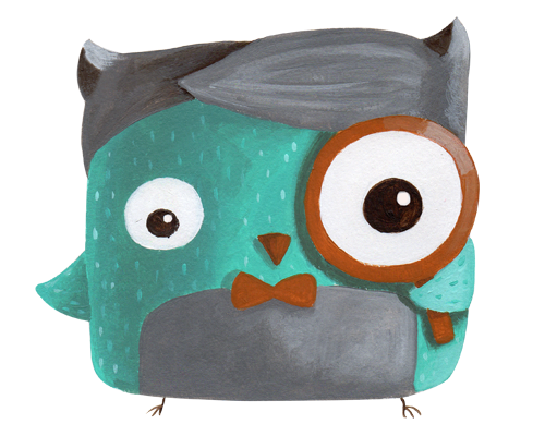 search web icon owl minty illustration agency illustration digital cuteoshenii andra badea