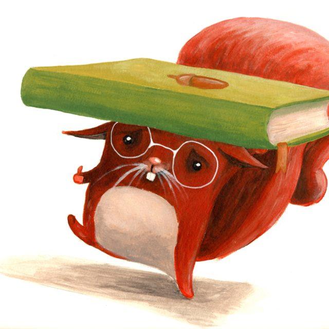 squirrel book lover cuteoshenii stationary notebook ROD carturesti andra badea