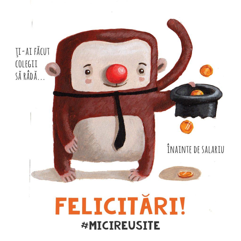 monkey money funny illustrated cards ROD carturesti romanian design cuteoshenii