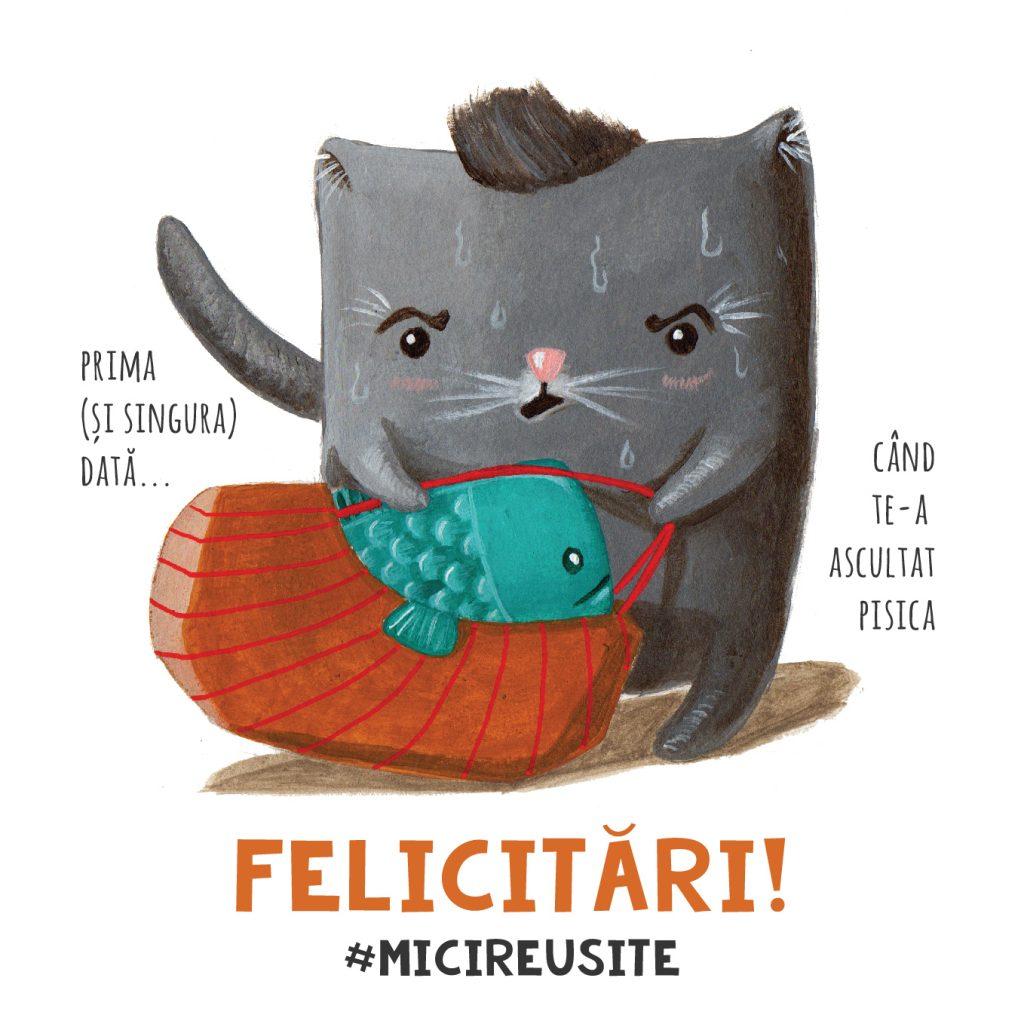cat lover humor pets cards celebrate cards funny meme carturesti mici reusite felicitari