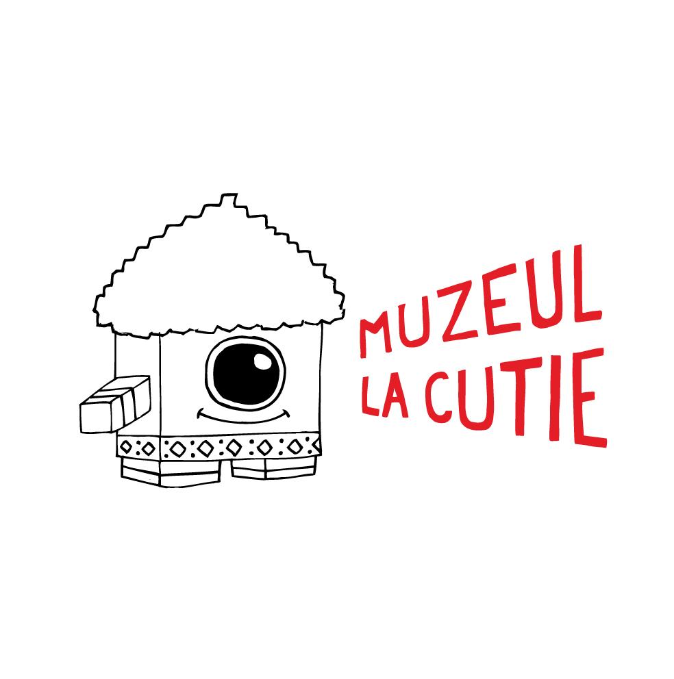 logo design illustration cuteoshenii andra badea visual identity muzeul la cutie muzeul taranului roman