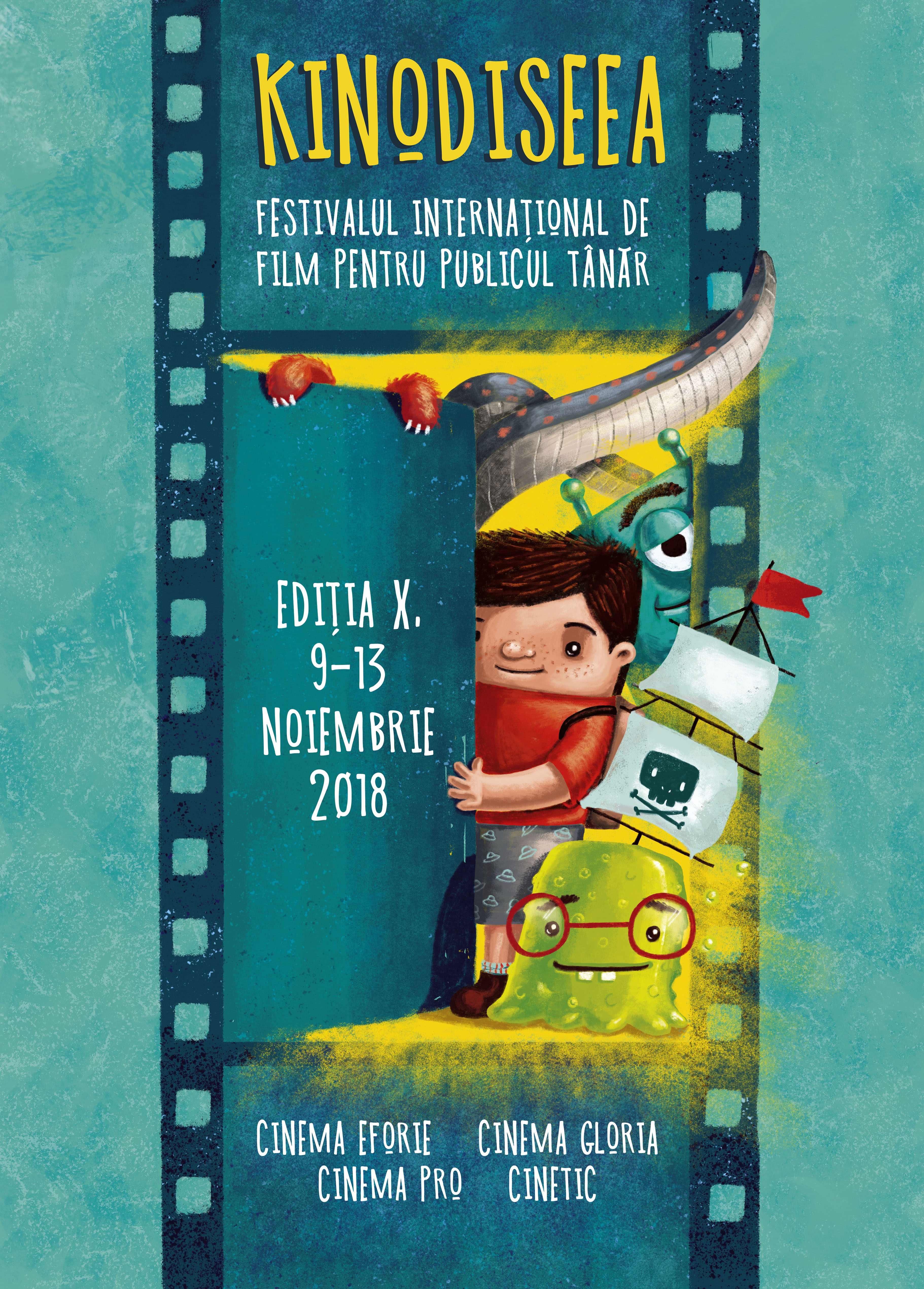 kinodiseea film festival poster illustration andra badea adventure movie children cuteoshenii