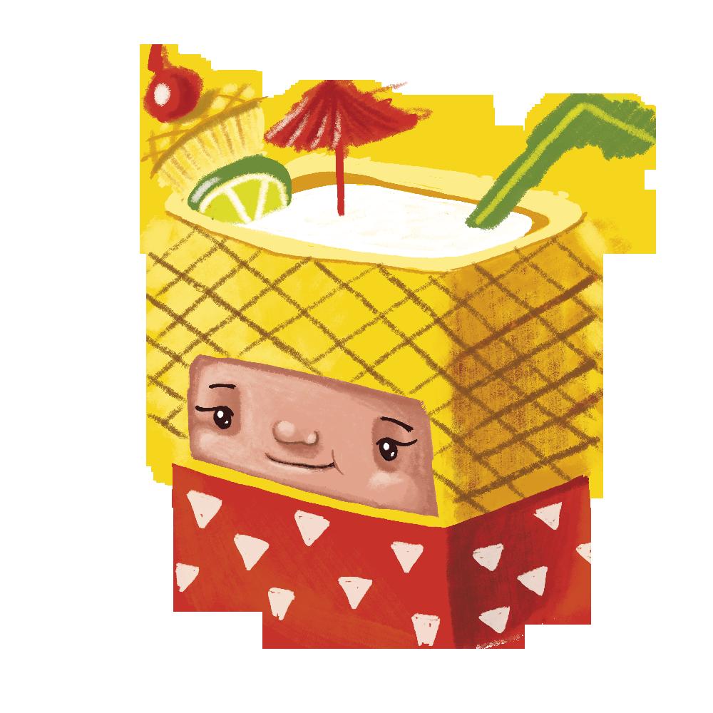 bumbagr character design tourist illustration andra badea cuteoshenii cocktail holiday